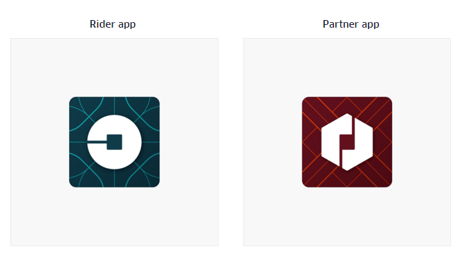 UBER new app icons